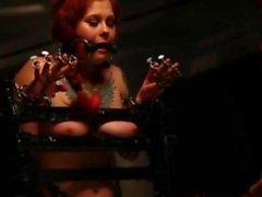 Redhead lez lezdom couple enjoy a bdsm session