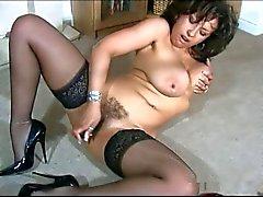 Hot britânico maduras Danica Collins provocação com vibrador