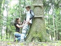 Adventure минет в лес