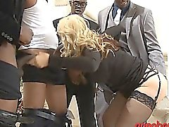 Huge juggs blondie whore Sarah Vandella double fuck with BBC