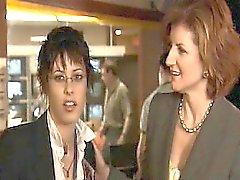 Sarah Shahi ateşli Katherine Moennig öpen lezbiyen