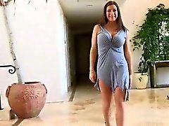 Hot brunette milf gets horny taking her part3