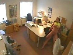 Sekretärin Fucking Überwachungskamera