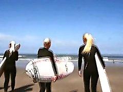 Lesben Teen Gruppen auf dem Strand