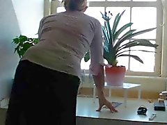 Madura mãe Milf cabeludo loiro elenco amador meias