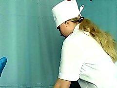 Sjuksköterskan Angie Stjärnor Med Analsex Finge
