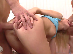 Light-brained Hotty Mercilessly Deepthroated And Drilled In Gazoo