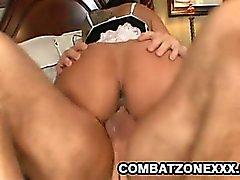 Big tit Latina Kiara Mia stuffed her pussy with a big fat