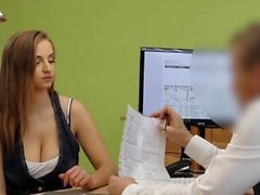 LOAN4K. Agent gives credit to hottie thanks to her...