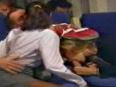 uçakta hostes seks çorap