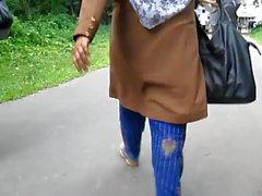 Bangladeshi kvinnorna bakifrån