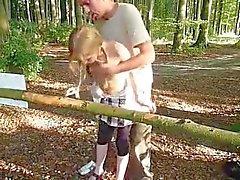 À chaud Ados Baisé Exhib d'une en commun Parc