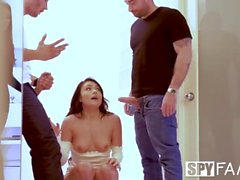 Spyfam Thanksgiving fuckfest with Anissa Kate and Adria Rae
