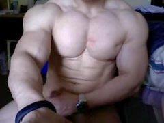 Cums Bodybuilding enorme e Flex em Cam