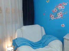 esposa de aficionados indio con enormes tetas en la webcam