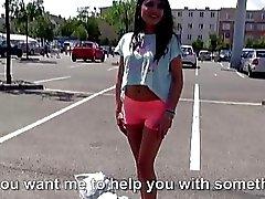 Hot sexy rumänischer Fahr mit einem Fremden zu
