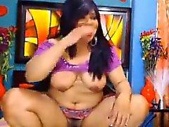 Paksua ja likainen intialainen masturboi