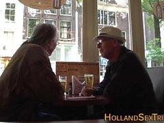 Hollandalı fahişe mastürbasyon