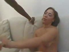 Seksi Büyük Butt Redbone Kanepede Fucked