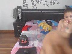 Kolumbianische Teen Babe Ruft Fick auf beiden Löchern