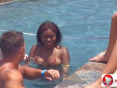Candice Nikole Chayse Evans Pool party