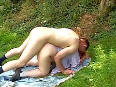 Italian Blonde Mature Plumper outdoor rough sex