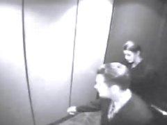 Geile Brünette Gibt EINEN Blowjob im Aufzug