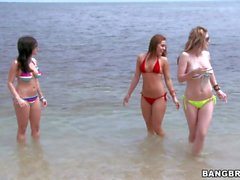 Babes Taylor Vixen and Grace Glam have fun at beach