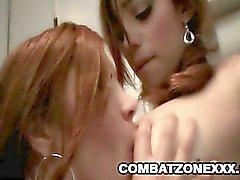 Mature lesbian Francesca Le licking teen babe Melanie Rios