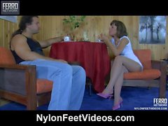 Viola & Lesley naughty nylon feet video