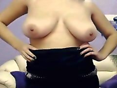 Russian girl shows her boobs