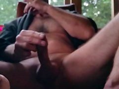 Jerking footjob