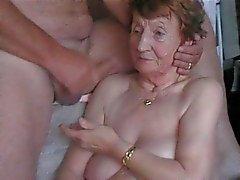 op het gezicht van oma