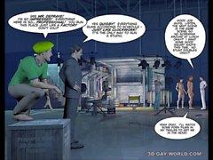 3D gais mondiaux des Images drôles de Cartoon romans graphiques Comics au sujet les La plus grande Gay Movie Studio