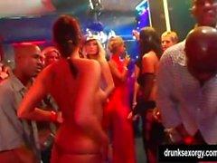 Sexy club girls fucking in public