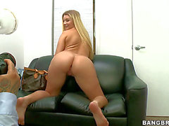 Curvilicious blond newbie Katie Banks