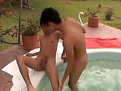 Latinos Fucking Bareback At The Pool