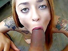 ThisGirlSucks Holly Hendrix Sucks on Huge Cock