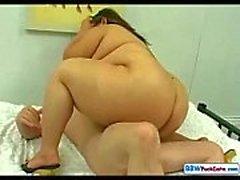 Sexiga ryskt Form BBW och mager Guy