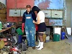 BBW Mûres baisé en Remise à outils