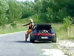 девушка попутчик трахать мужчина