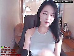 Korean Volljährigkeit Teenager camgirl mit Super hawt Körper