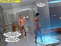 Den japanska sadomaso Kontaktannonser för BDSM 3D bögen tecknad Yaoi Anime