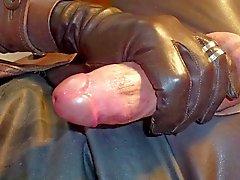 GLOVER1000 - del gurl de cuero marrón de