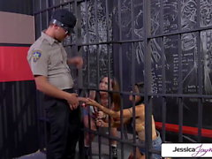 Jessica Jaymes, Gabby Quinteros fucking a cop in a cellblock