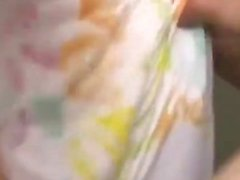 chica japonesa digitación coño peludo