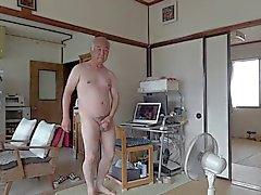 Japanilaiset vanhat ihmisen Masturbation pystyttää peniksensä siemennesteestä virtaukset