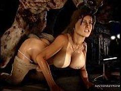 Lara büyük bir canavar tarafından becerdin alır