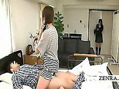 Untertitel Japanisches Schul Klinik MILF überrascht