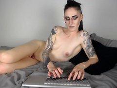 Kiimainen web tyttö masturboida Makea Pussy